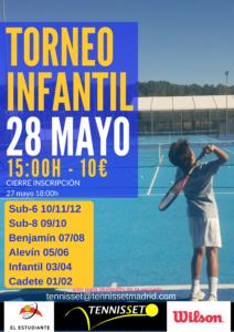 Torneo Infantil Tenis Verano 2017 Poster