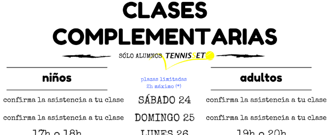 CLASES COMPLEMENTARIAS