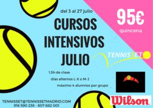 cursos intensivos tenis julio 2017