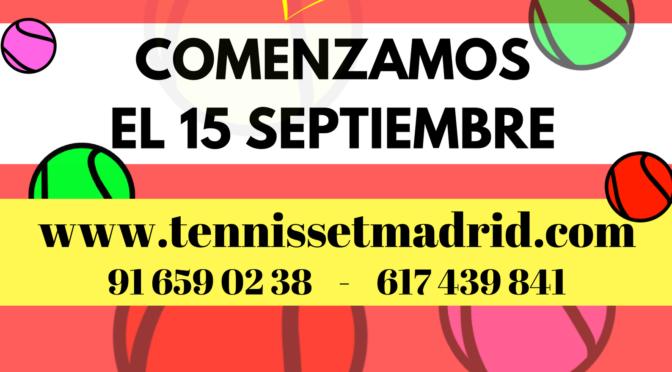 COMENZAMOS NUEVO CURSO DE TENIS 2017/18