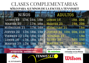 CLASES COMPLEMENTARIAS marzo 2018