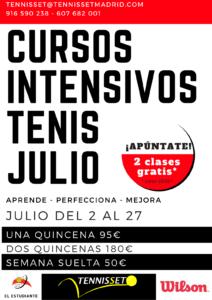 cursos de tenis intensivos julio 2018