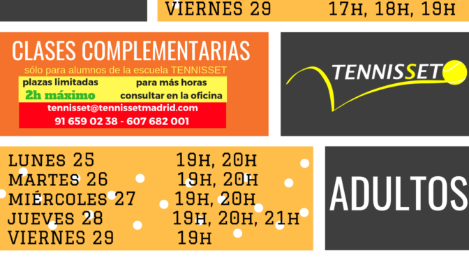 CLASES COMPLEMENTARIAS MARZO 2019