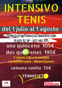 cursos de tenis en julio