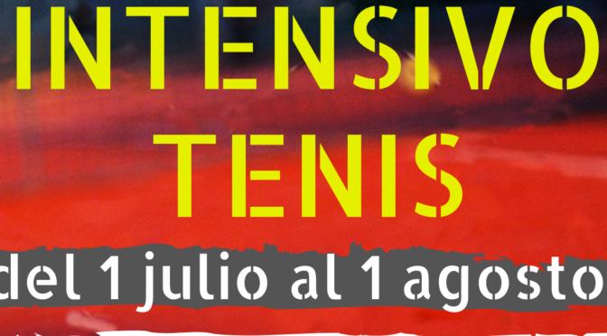 CURSOS INTENSIVOS DE TENIS JULIO