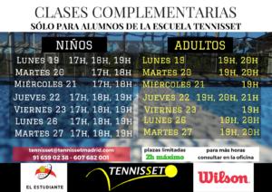 CLASES COMPLEMENTARIAS marzo 2018