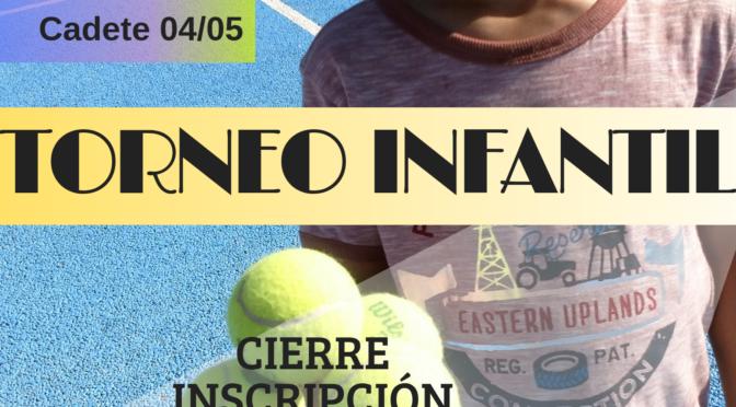 TORNEO INFANTIL TENIS VERANO