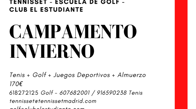 CAMPAMENTO INVIERNO FEBRERO 2020