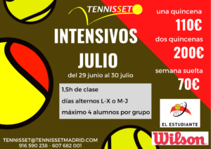 cursos intensivos tenis JULIO 2020