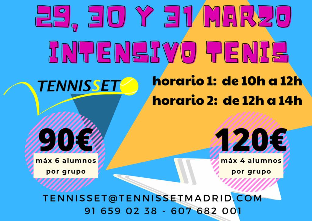 curso intensivo tenis marzo 2021