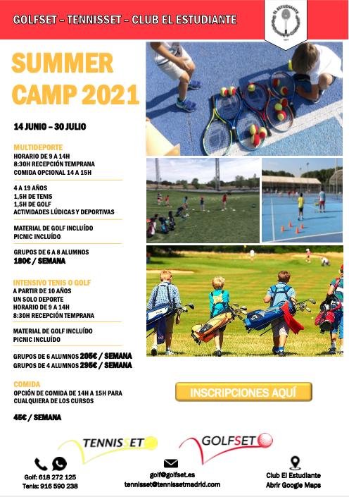 Campamento de verano, Alcobendas, Madrid tenis y golf