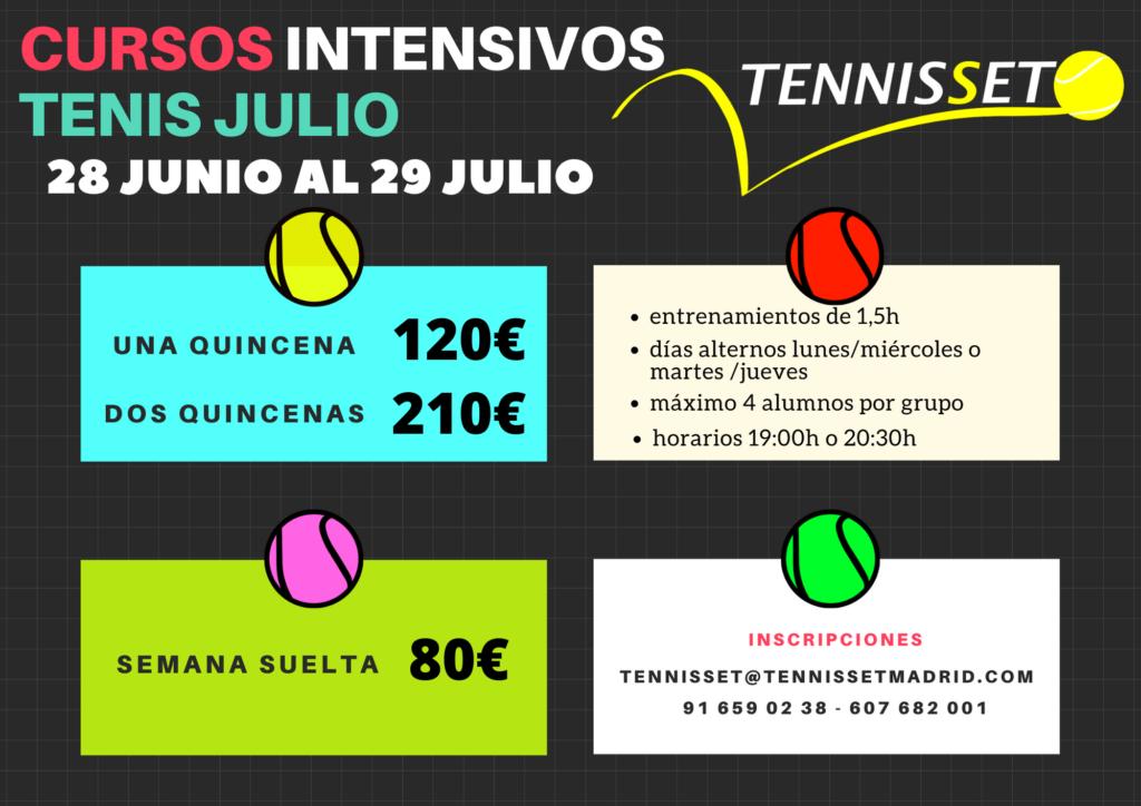 Curso tenis intensivo julio 2021
