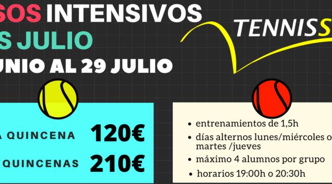 CURSOS INTENSIVOS DE TENIS EN JULIO